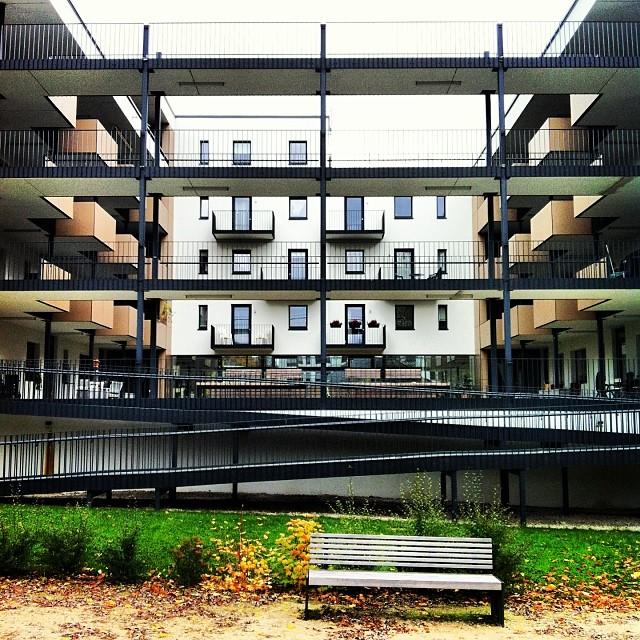 Hinterhof der Wohnanlage am Sigmundsgraben in Hof